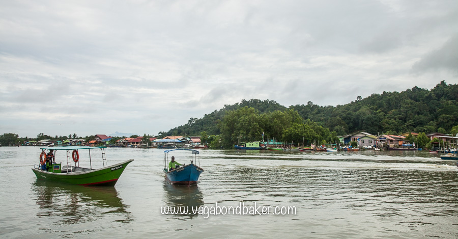 The boat from Kampung Bako to the Park HQ