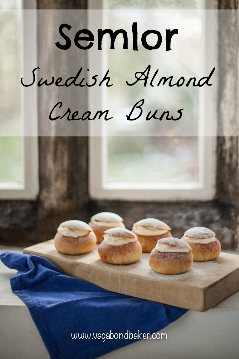 Swedish Semlor // a perfect lent treat // Cream buns filled with almond paste