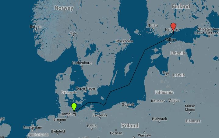 Helsinki to Travemünde Ferry