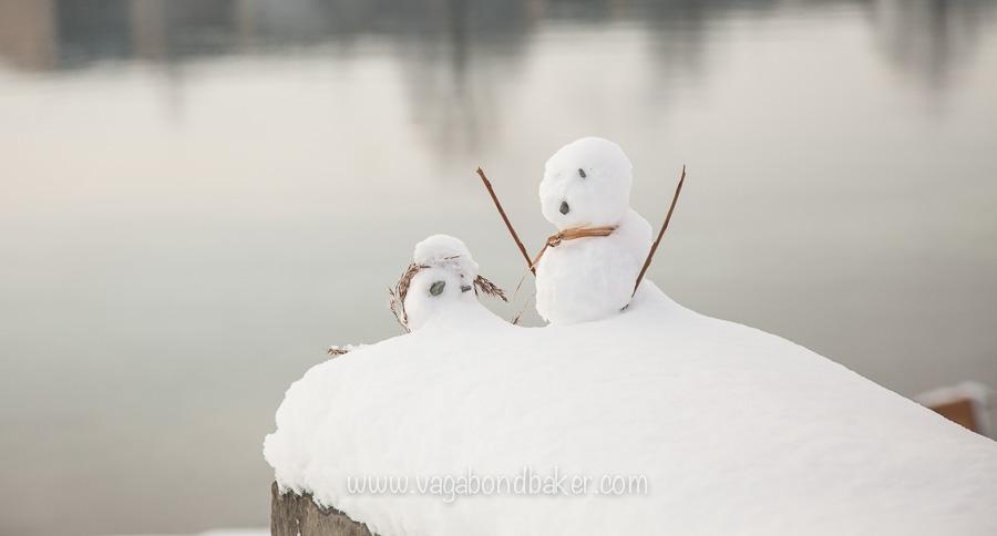 tiny snowmen!