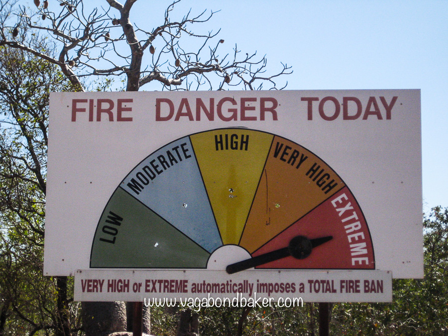 No camp fires!