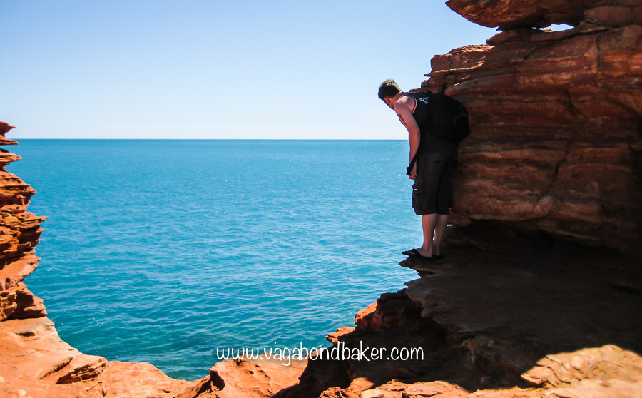 Red stone, turquoise sea! Near Broome.