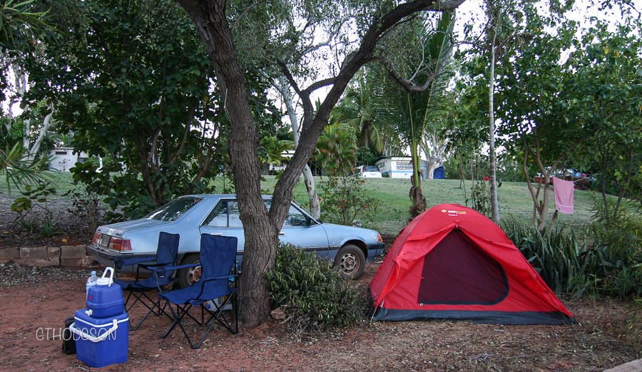our little camp set up in Broome