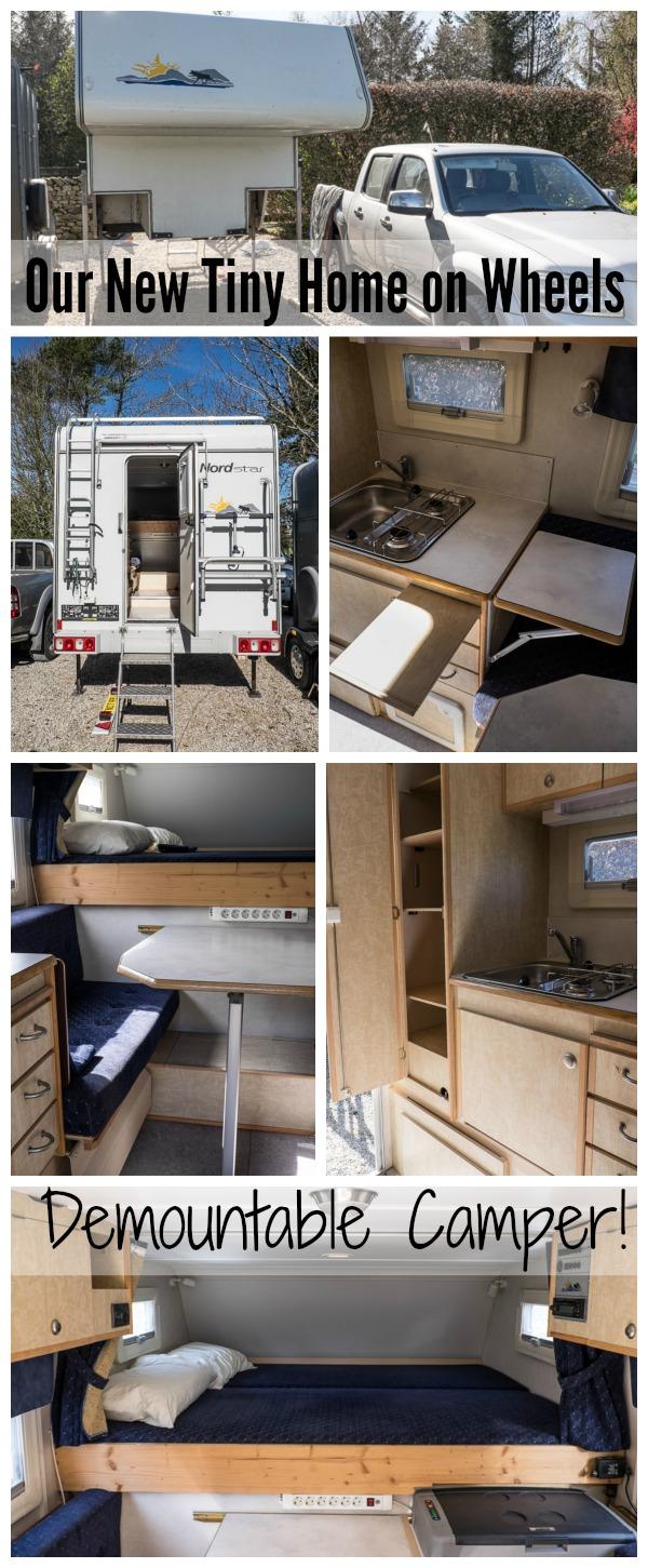 Demountable camper, truck bed camper, tiny home