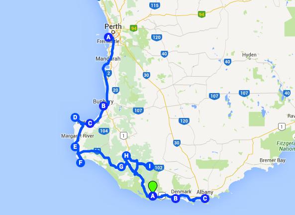 South West Corner, Australia Road Trip