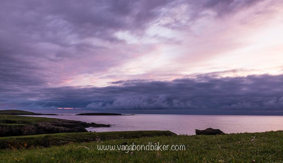 Sunrise at Midsummer on Unst, at around 3.30am