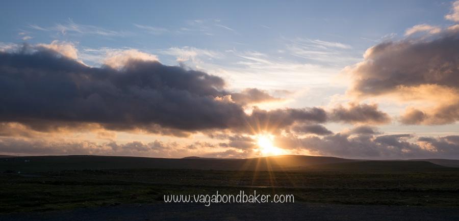 Sunset on Fetlar