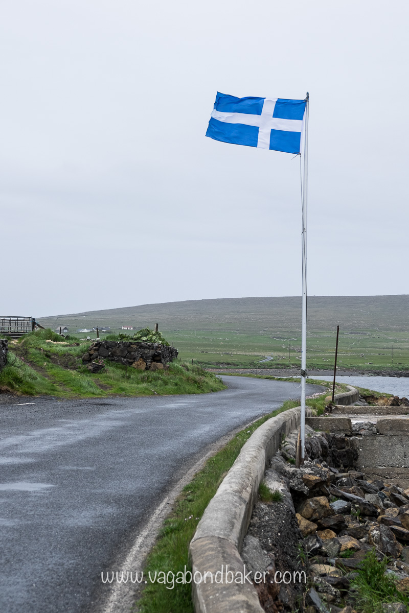 The Shetland flag is pretty much a negative of the Finnish Flag!