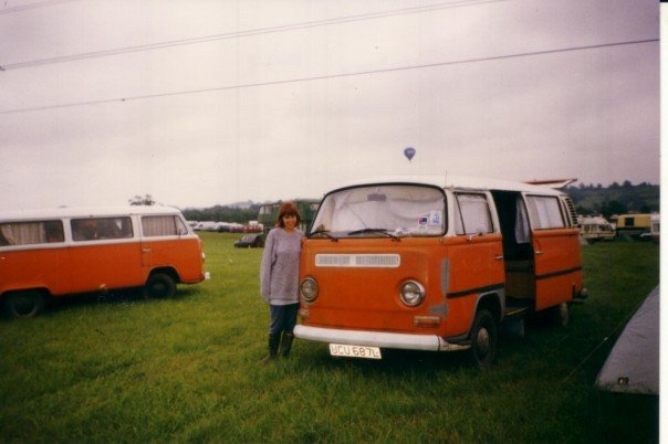 Glastonbury festival, VW bus