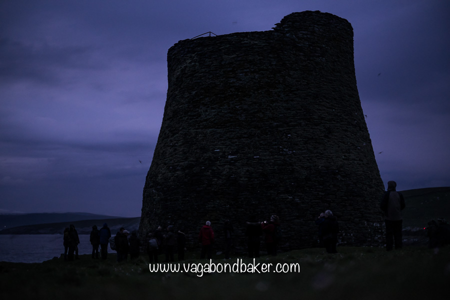 Mousa Broch at night