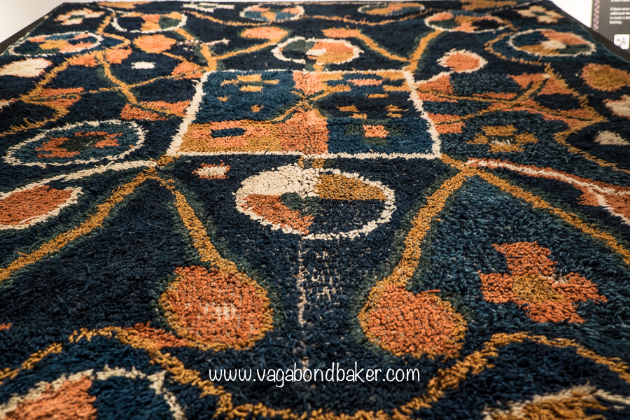Taatit rug, a traditional craft, often made for weddings, used as bedcovers.