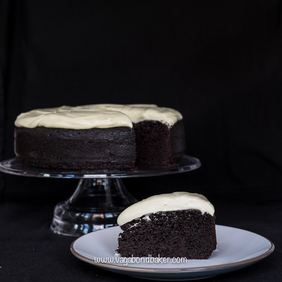 Chocolate Guinness Cake, with white chocolate cream cheese ...