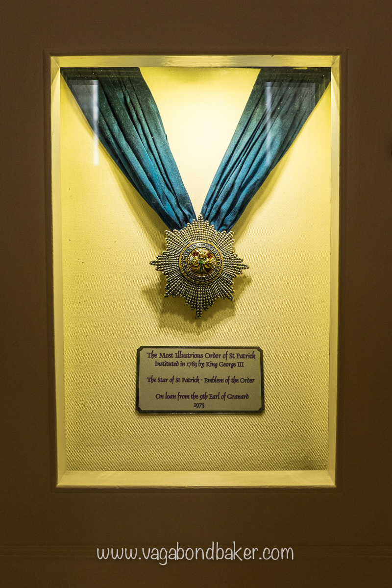 The Star of the Order of St Patrick, worn by a Viceroy