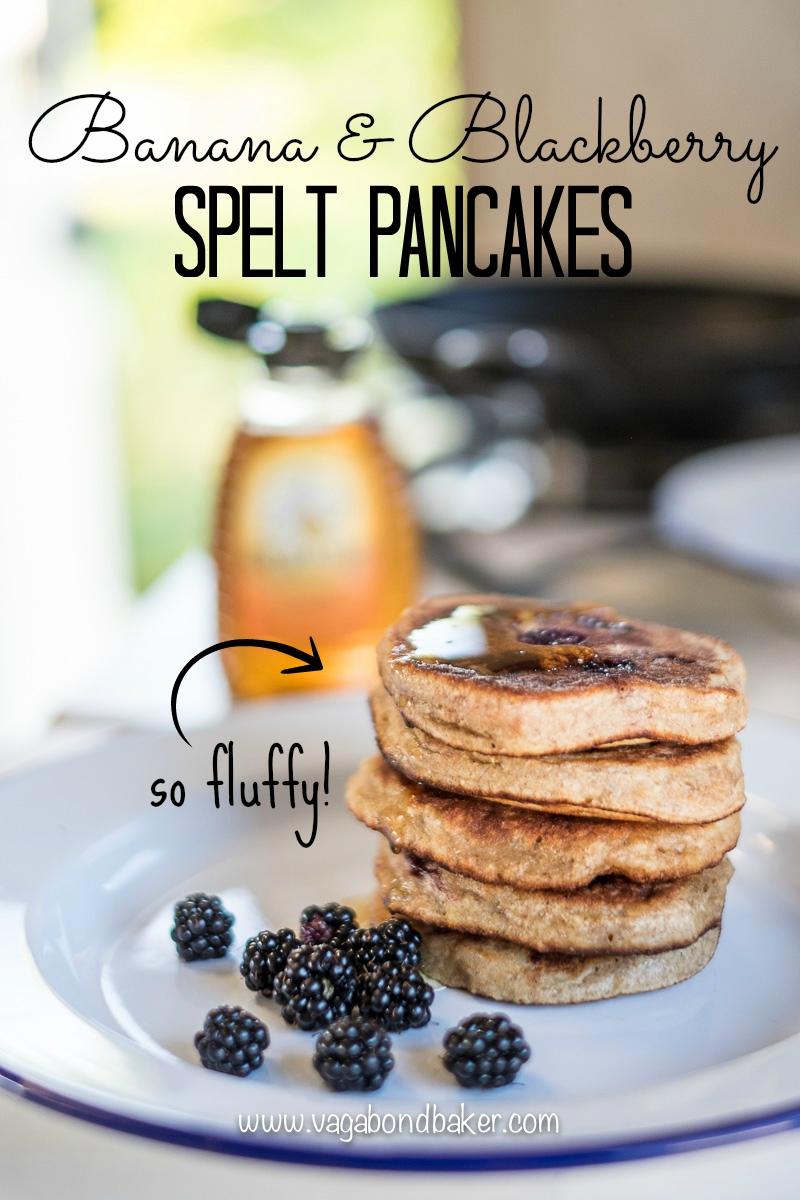 Banana spelt blackberry pancakes-5803