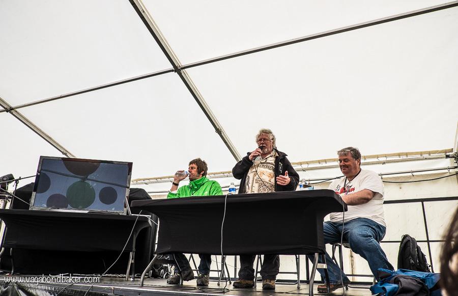 Dan Bradbury, Bill Oddie and Mark Avery talk responsible travel.