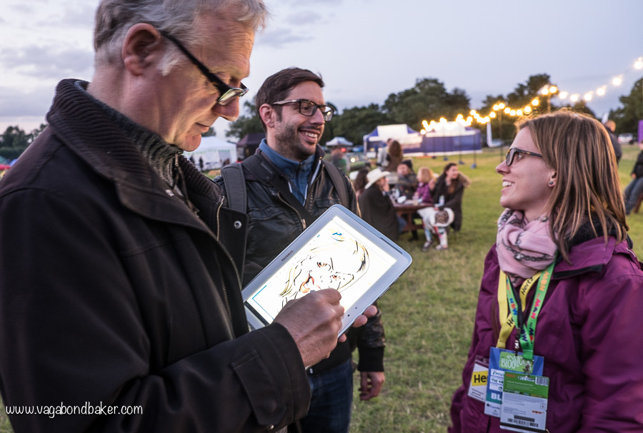 Emily (The Grown Up Gap Year) gets her caricature drawn
