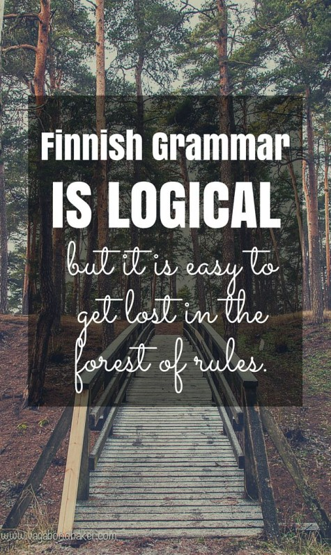 learning Finnish, Finnish Grammar
