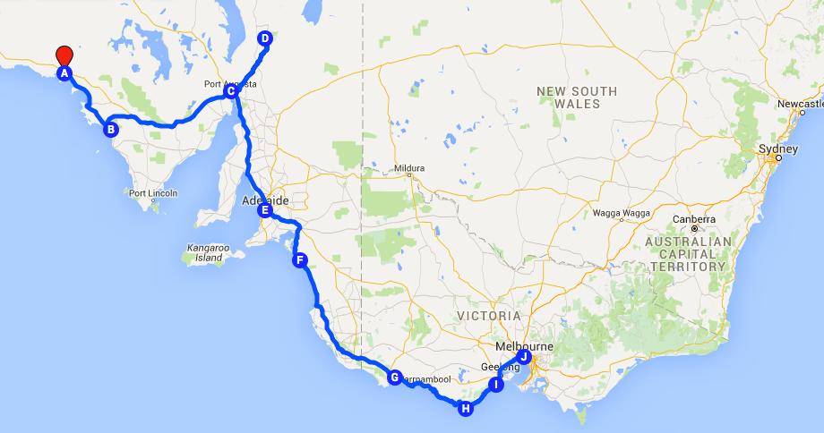 Ceduna to Melbourne: Road trip Australia