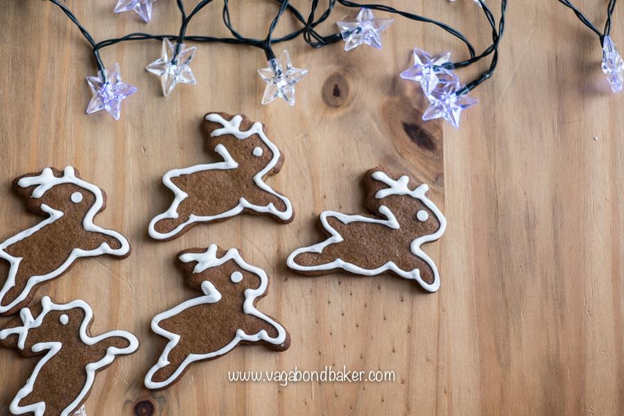 Gingerbread Reindeer Cookies, so cute and Christmassy!