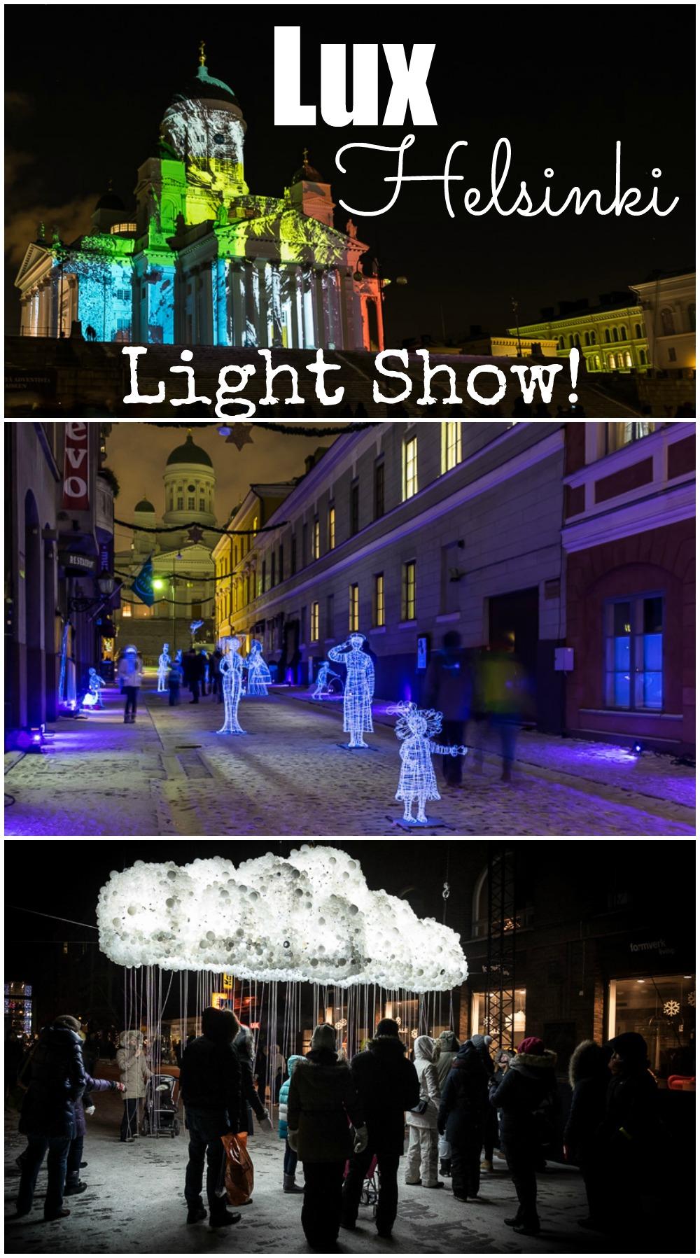 Lux Helsinki 2016 Light Show