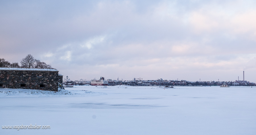 Suomenlinna in Snow