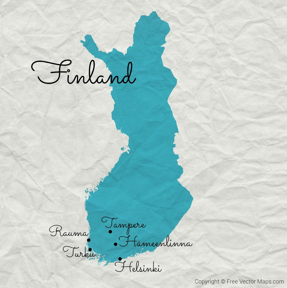 50 Ways Finland Made Me Smile This Winter map