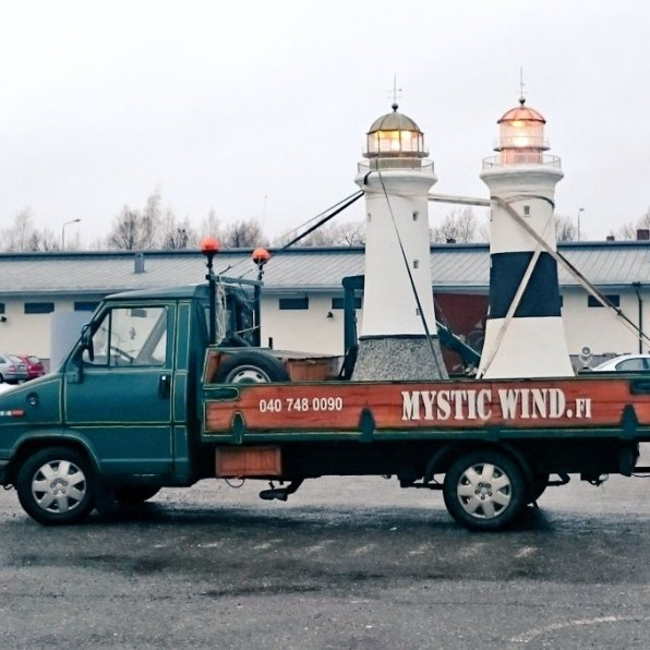 Lighthouses on a truck