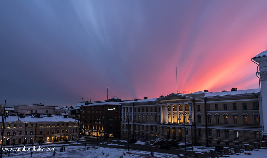 Helsinki Winter Sunset