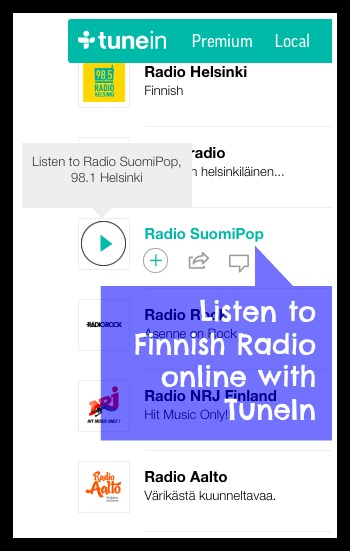 Learning Finnish TuneIn