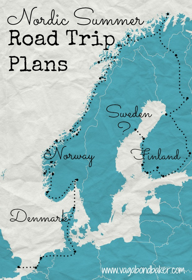 Nordic Summer Road Trip Plans, Sweden still unplanned. 3 month trip, can't wait!